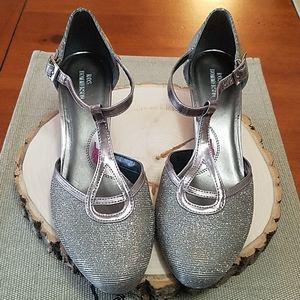 Ros Hommerson Silver Sparkle High Heels Sz 7M